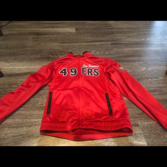 the latest 4d143 0b8af 49ers women nfl track jacket